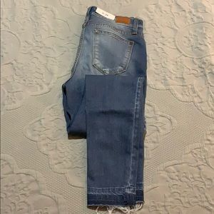 Judy Blue Destructed Denim Skinny Jeans